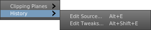 Edit Source and Edit Tweaks menu actions